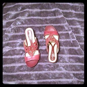 Maroon semi high heels
